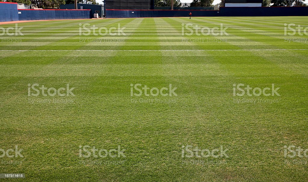 Level Playing Field At Baseball Diamond stock photo