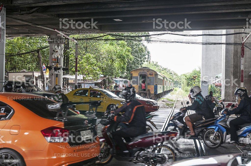 Level Train Crossing stock photo