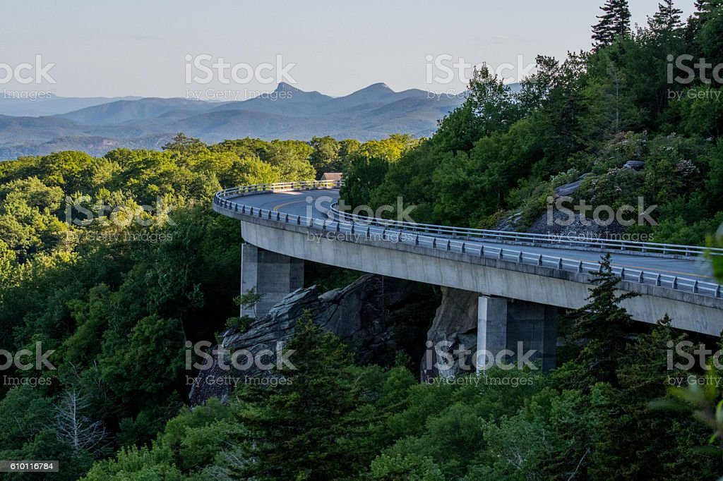 Level With Linn Cove Viaduct stock photo