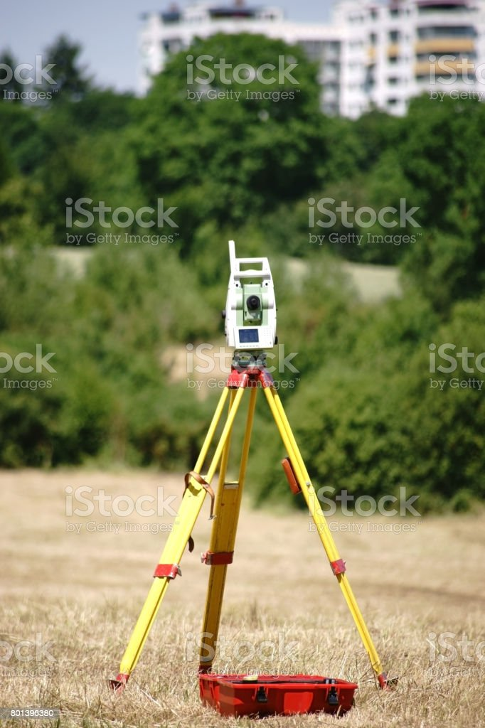 Leveling instrument stock photo