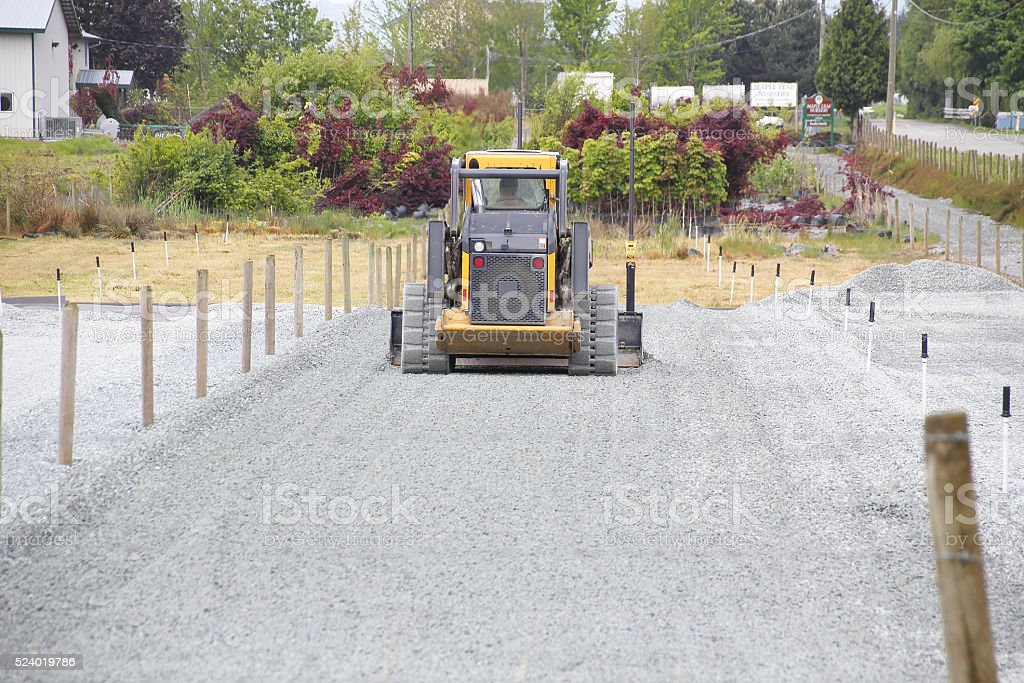 Leveling Large Areas of Land stock photo