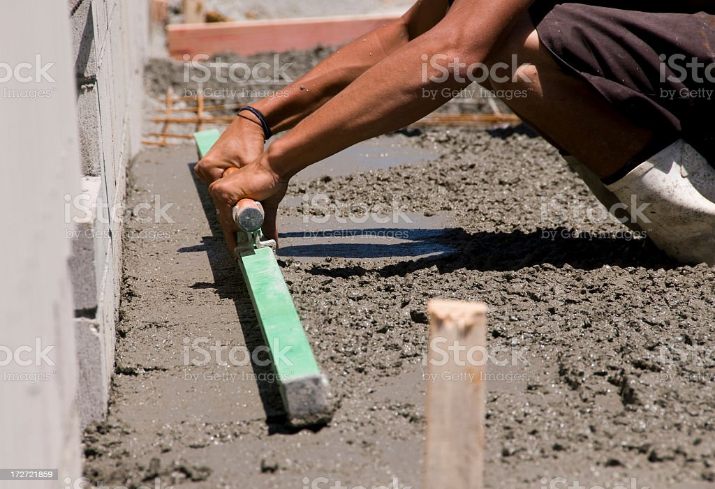 Levelling Concrete royalty-free stock photo