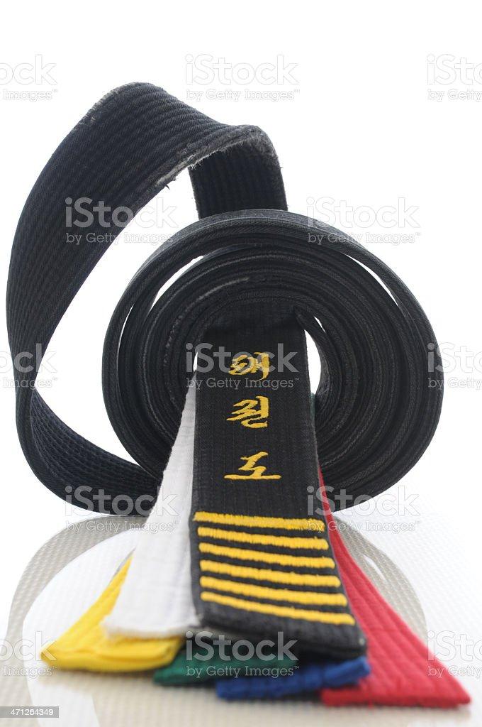 Levels of Tae Kwon Do royalty-free stock photo