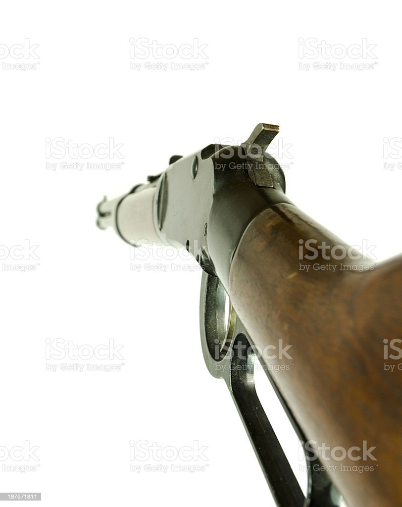 Lever Action Carbine Rifle royalty-free stock photo