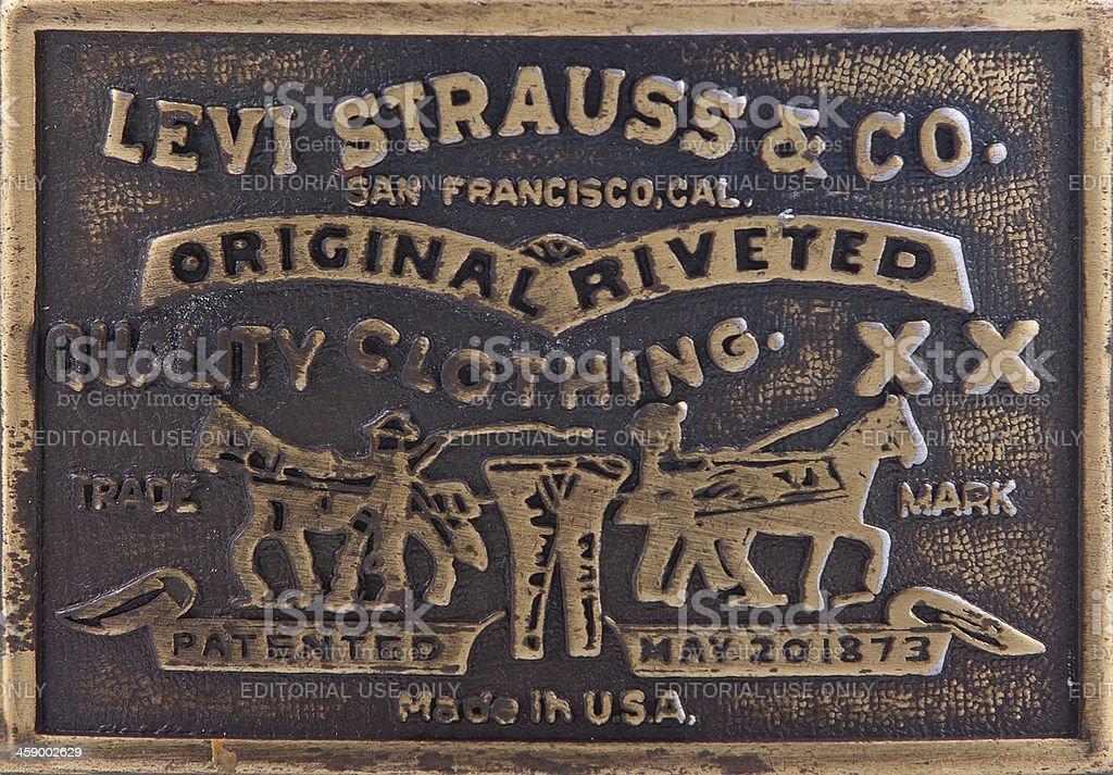 Levi Strauss Belt Buckle stock photo