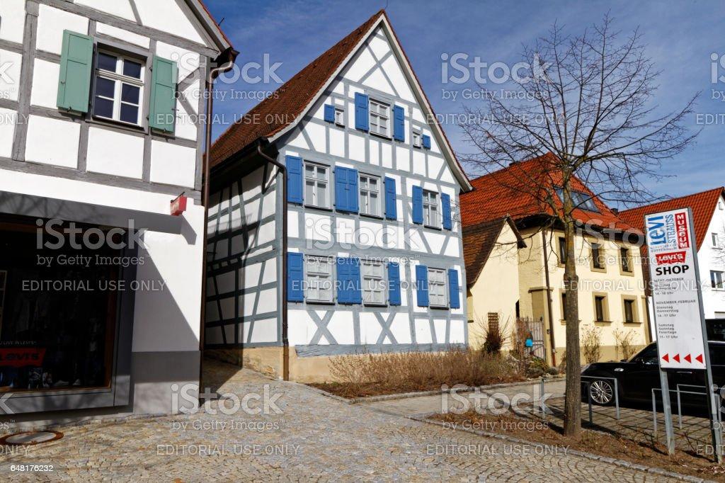 Levi Strauss birth house in Buttenheim - Museum stock photo