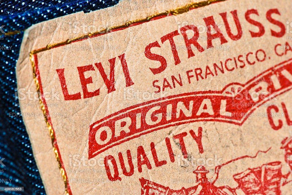 Levi Strauss & Co. tag on denim jeans model 512 stock photo