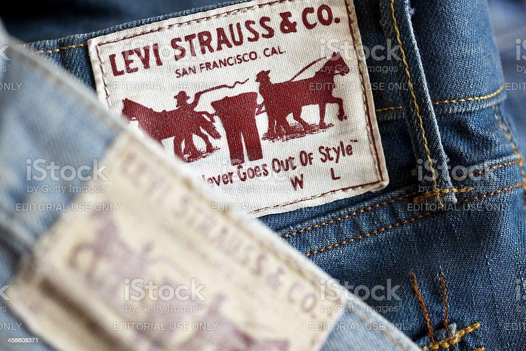 Levi's Blue Jean stock photo