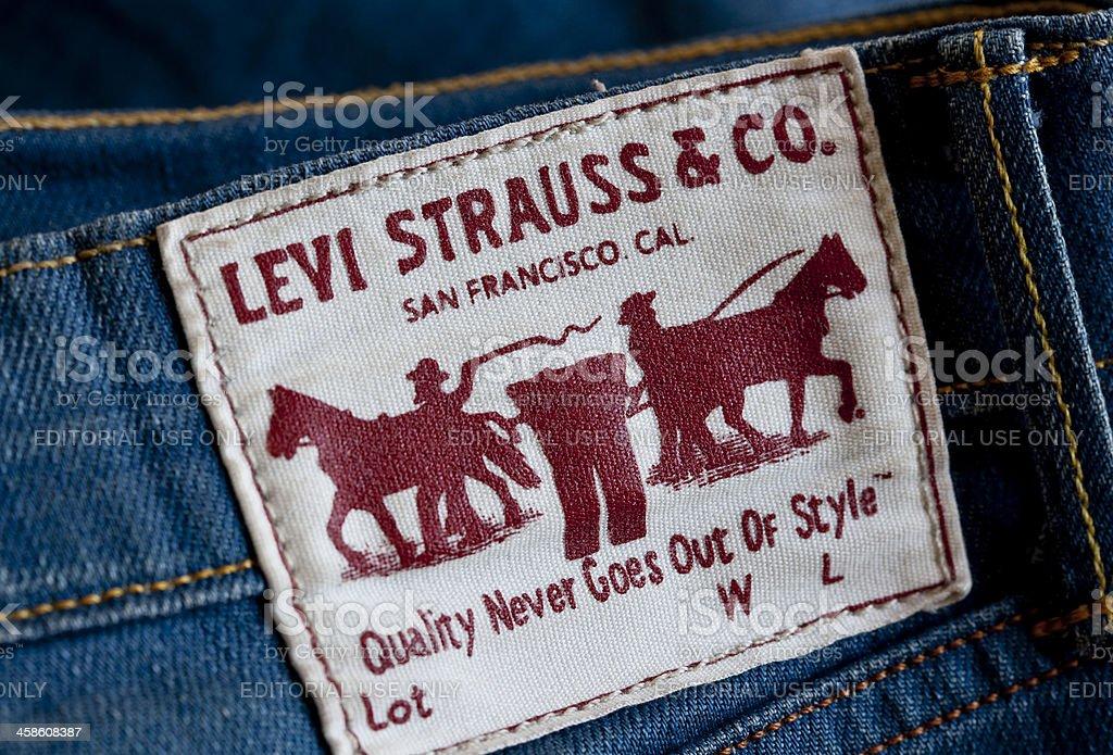 Levi's Blue Jeans stock photo