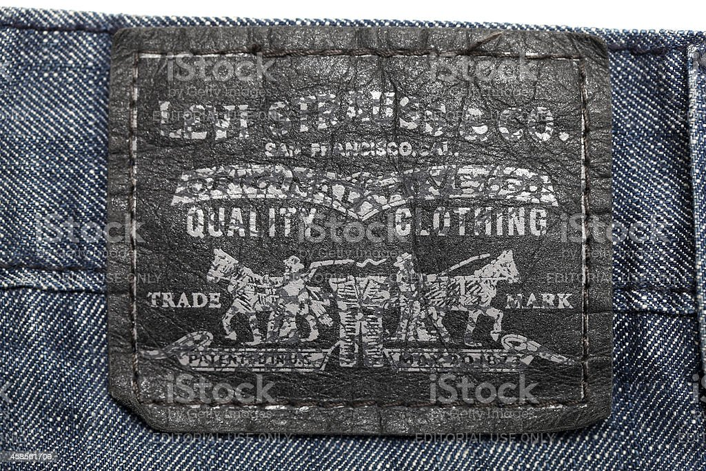 Levis Branded denim Jeans stock photo