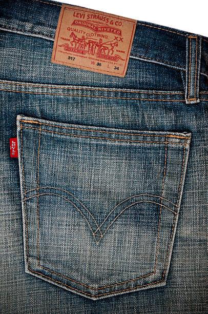 Calças de ganga Levi's bolso - foto de acervo