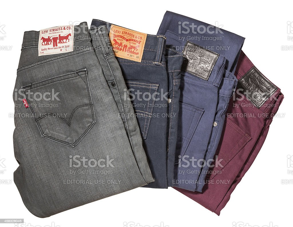 Levi's Jeans Label Isolated stock photo