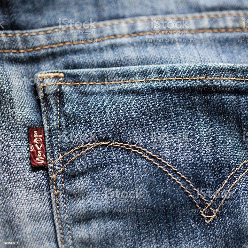 Levi's Jeans Label stock photo