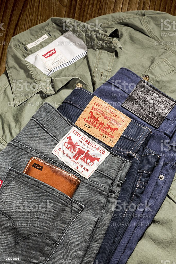 Levi's Jeans & Shirt stock photo