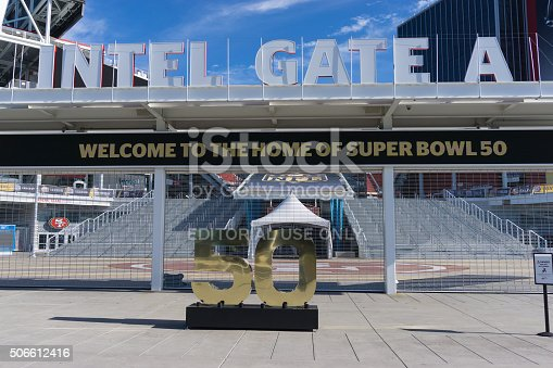 931661614istockphoto Levi's Stadium is the home of the 50th Super Bowl. 506612416