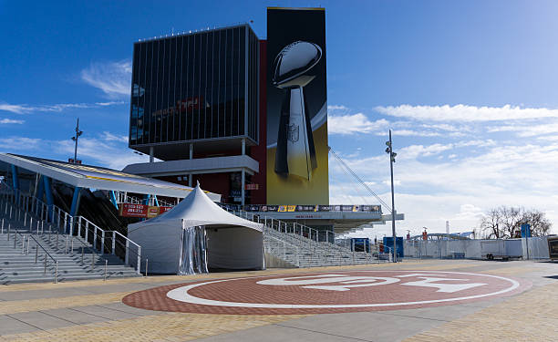 Levi's Stadium is the home of the 50th Super Bowl. stock photo