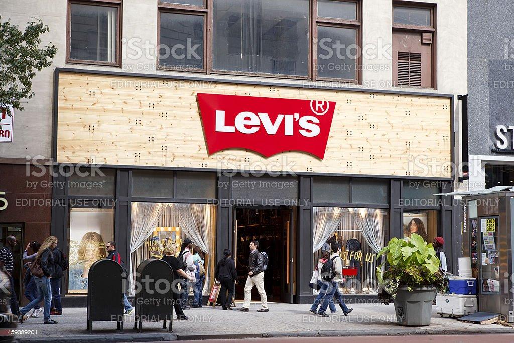 Levi's Store on 34th Steet Manhattan stock photo