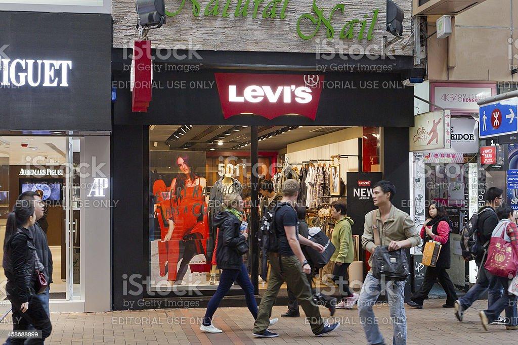 Levi's store stock photo