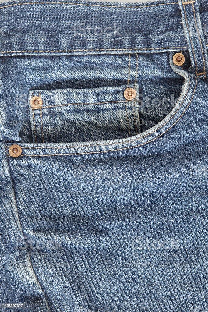 Levi's Strauss Blue Jeans (detail) foto
