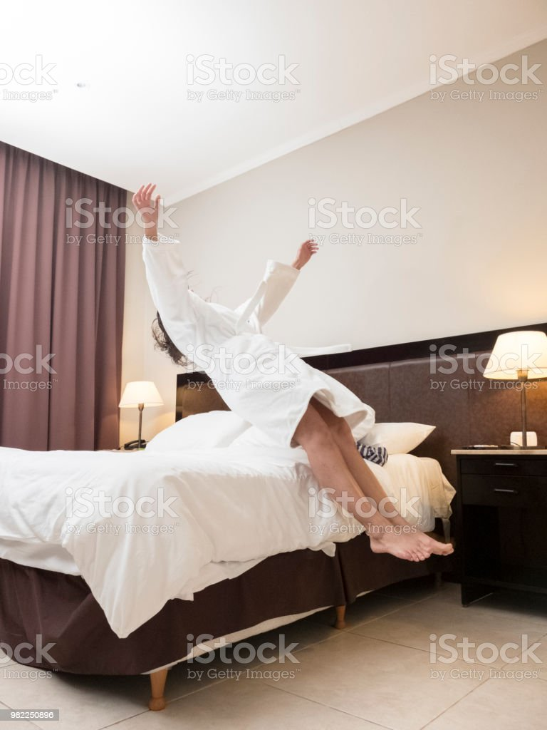 Levitando - foto de stock