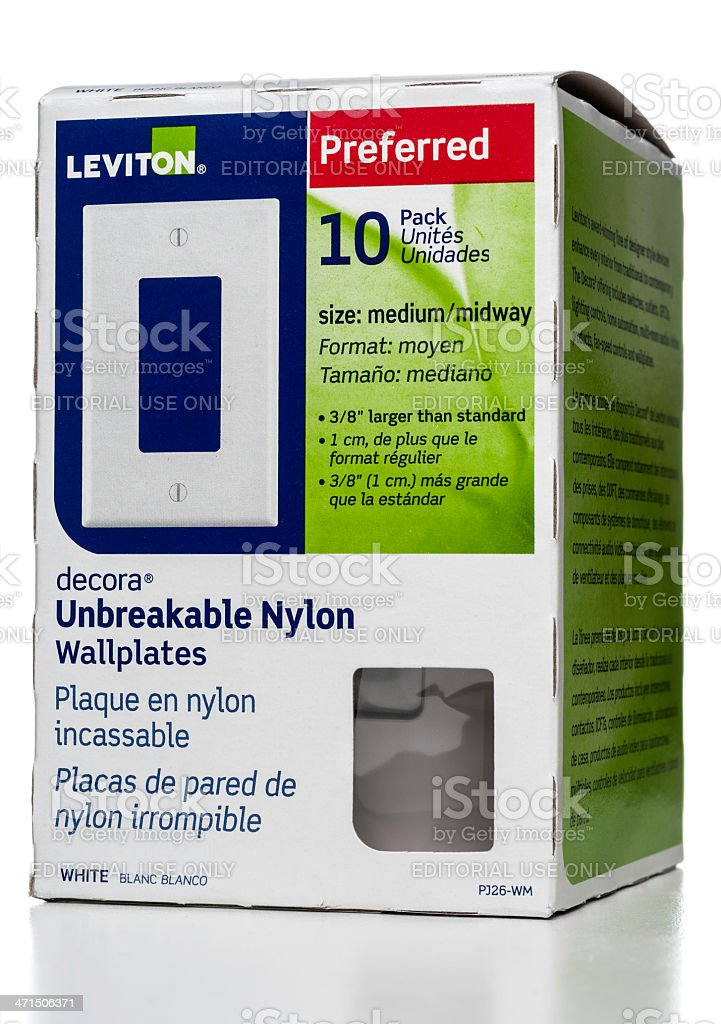 Leviton Preferred Decora Unbreakable Nylon Wallplates Box Stock ...