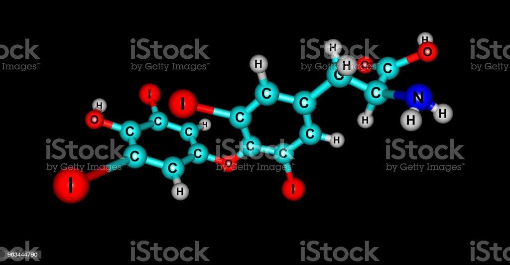 Levothyroxine Molecular Structure Isolated On Black Stock Photo