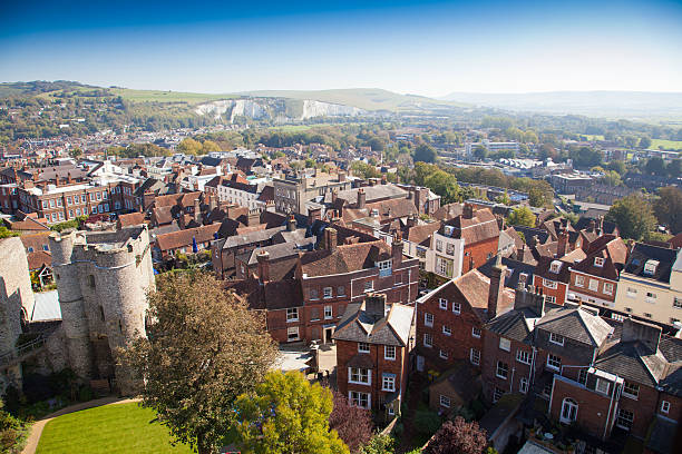 lewes east sussex england,united kingdom - east sussex stockfoto's en -beelden