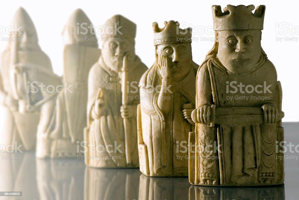 Lewis chessmen royalty-free stock photo