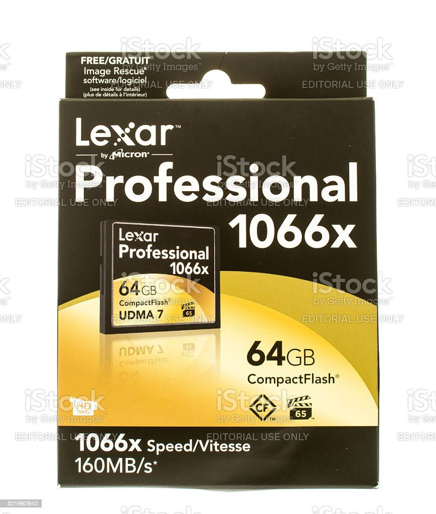 Lexar CompactFlash stock photo