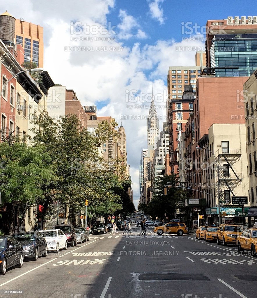 Lexington avenue New York stock photo