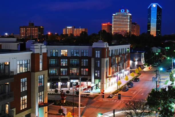 Lexington Kentucky skyline stock photo