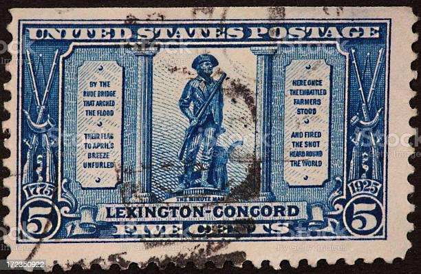 Lexington-Concord stamp 1923