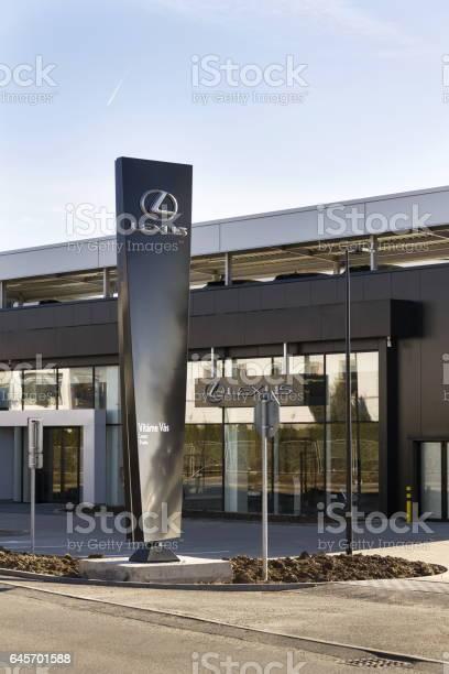 Lexus car logo in front of dealership prague czech republic picture id645701588?b=1&k=6&m=645701588&s=612x612&h=awwrevtamt nz9 epif4cnvkf xsltou9bvhgsqgsw4=