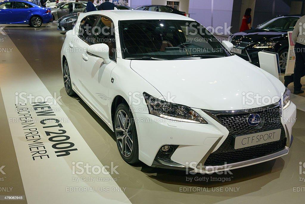 Lexus CT 200h F SPORT LINE royalty-free stock photo