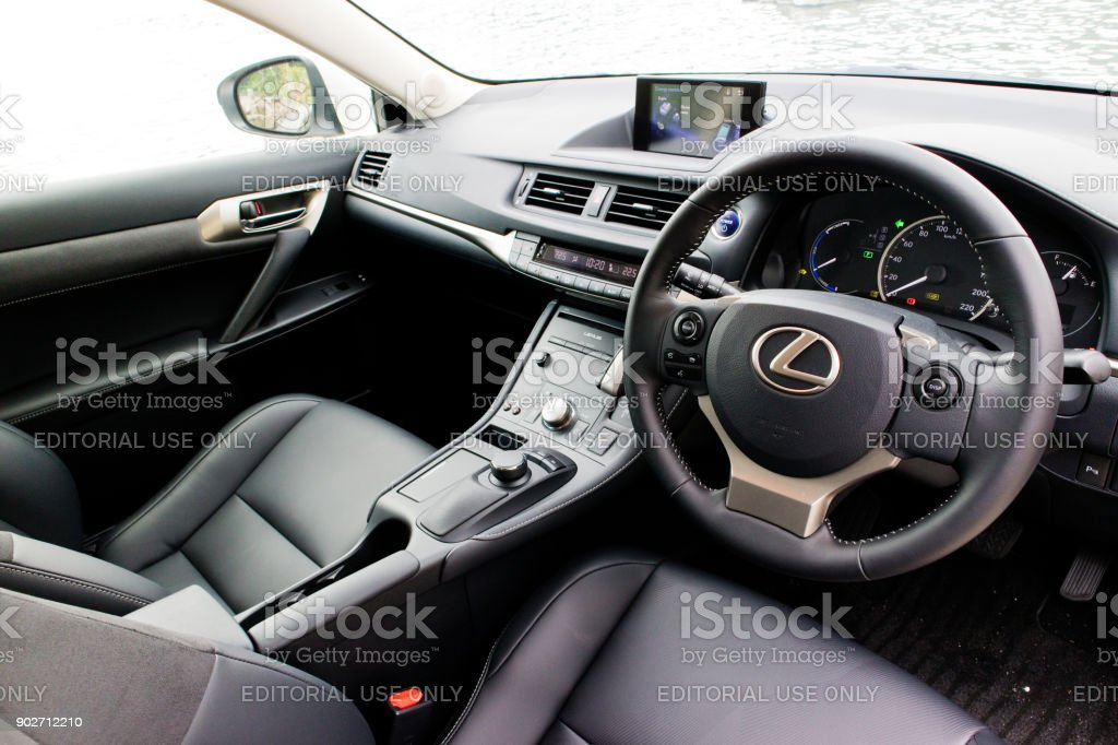 Lexus CT200h 2017 Interior stock photo