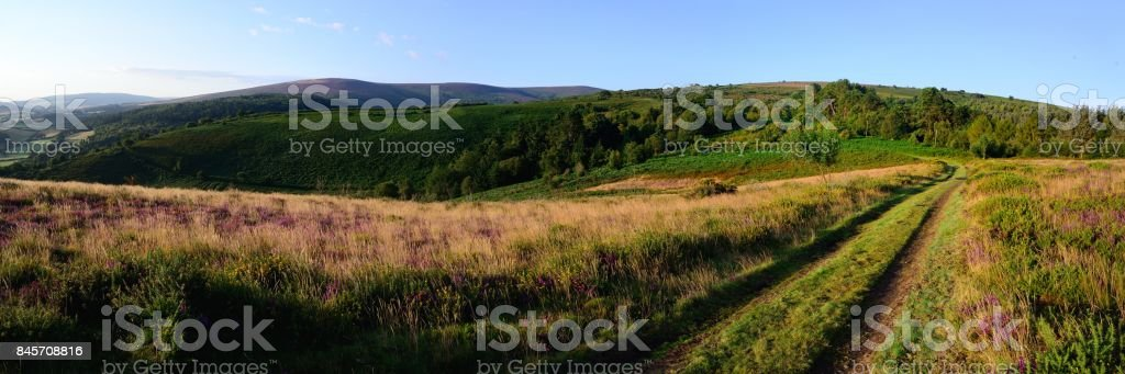Ley Hill and Dunkerly Beacon stock photo