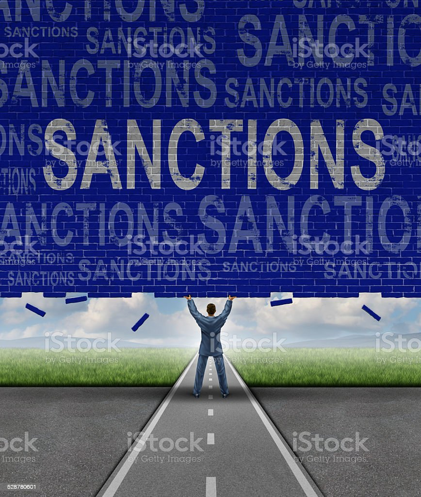 Lfting Sanctions stock photo