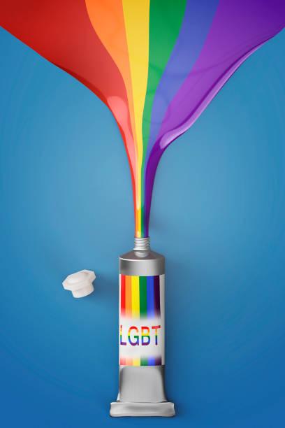 lgbt rainbow colors stock photo