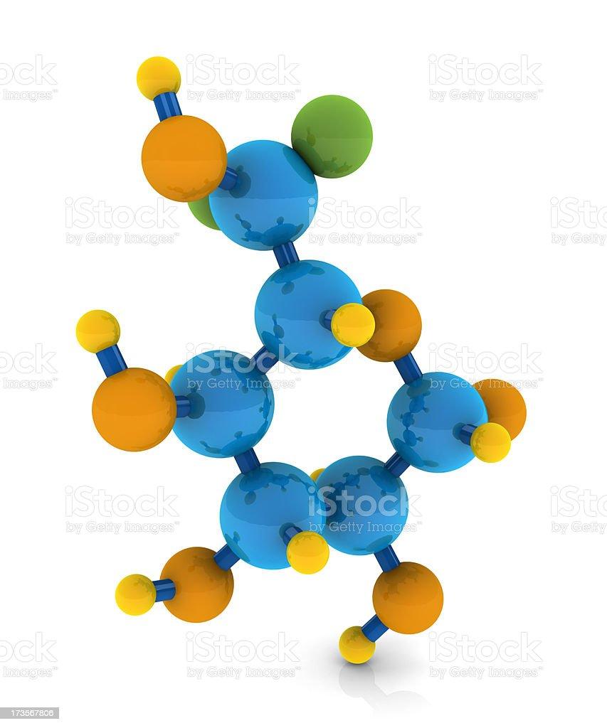 L-glucose molecule stock photo
