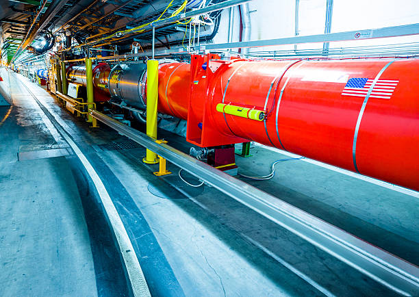 LHCb Experiment Detectors LHC Accelarator's SuperConducting Pipes large hadron collider stock pictures, royalty-free photos & images
