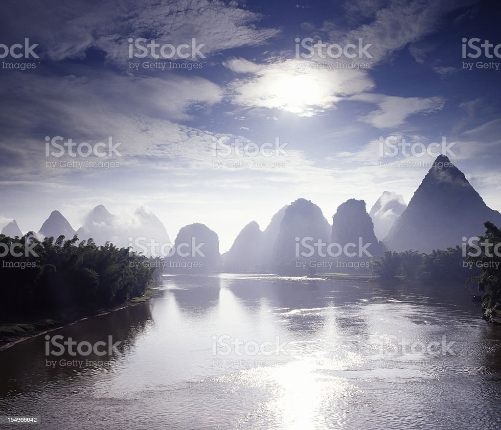 Li River at Sunrise royalty-free stock photo