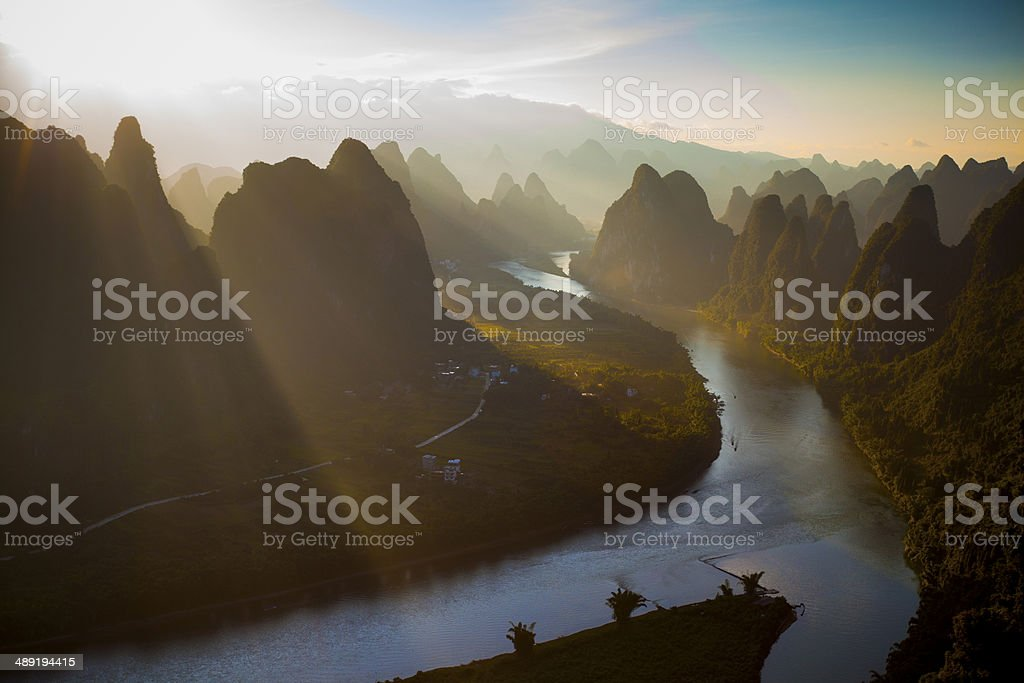 Li river in the Morning stock photo