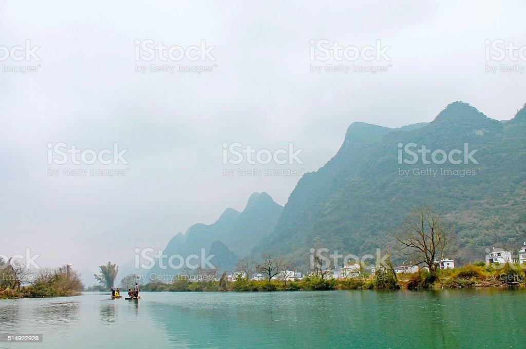 Li River in Yangshuo,Guilin,China stock photo