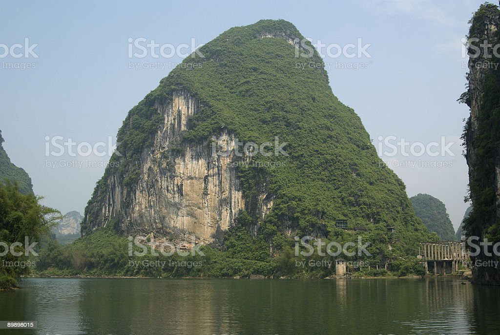 Li river near Yangshuo in Guangxi province royalty-free stock photo
