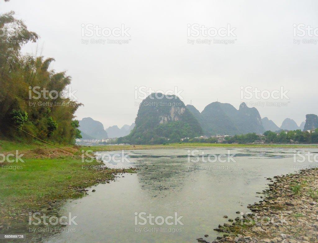 Li River, Yangshuo, China, Asia royalty-free 스톡 사진
