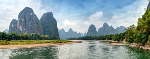 Li river - Yangshuo, Guilin - China stock photo