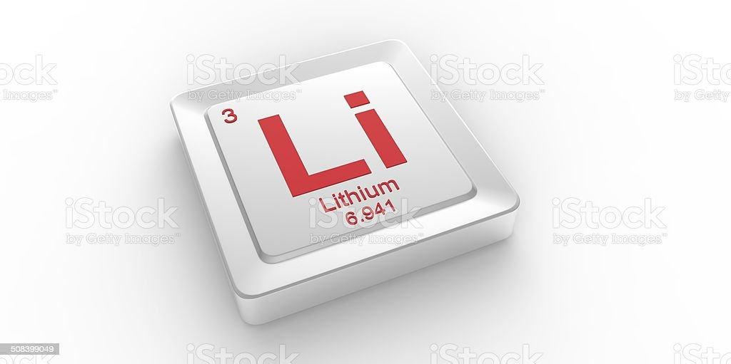 Li Symbol 3 Material For Lithium Chemical Element Stock Photo More