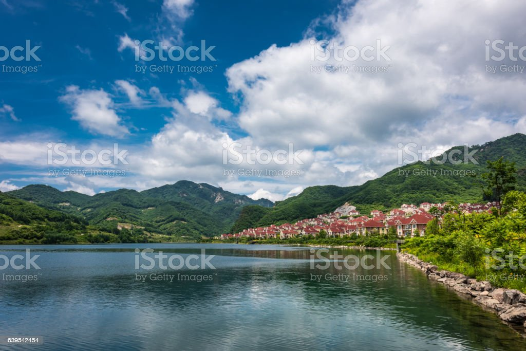 Liaoning Tianqiaogou National Forest Park , Dandong, China stock photo