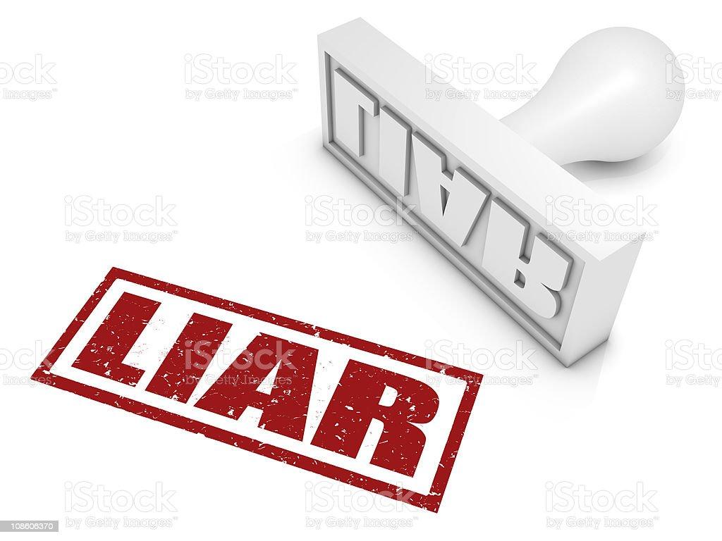Liar! stock photo