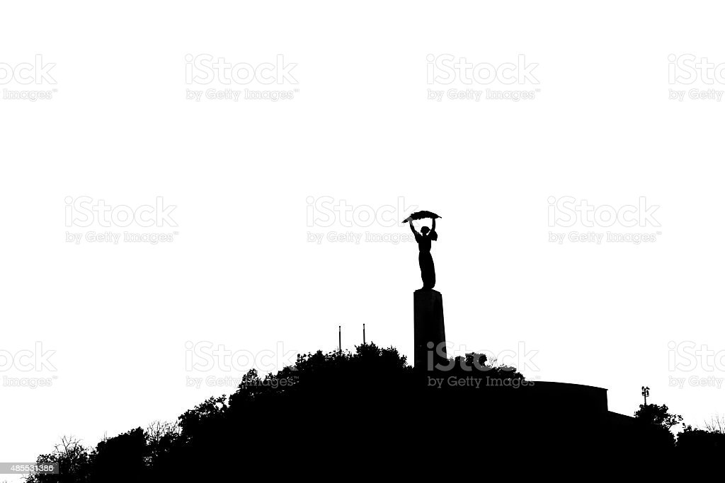 Liberation Monument in Budapest, Hungary stock photo